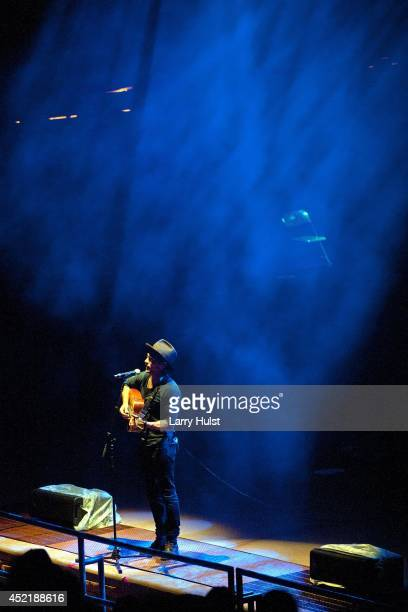 Scott Avett with the 'Avett Brothers' at Red Rocks Amplitheater in Morrison Colorado on July 11 2014
