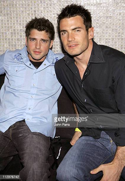 Scott Bailey and Aiden Turner during 2005 Hottest Hunks of Daytime Calendar at Lotus Ultra Lounge in Tampa FL United States
