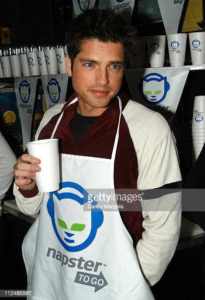 "Scott Bailey of Guiding Light during Napster Launches ""Napster To Go"" Cafe Tour with Free Music and MP3 Players at The Coffee Shop in New York City,..."