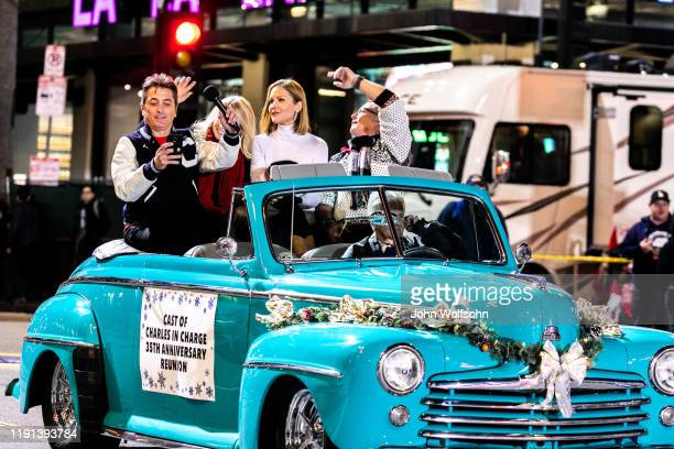 Scott Baio, Jennifer Runyon Corman, Josie Davis and Willie Ames the 88th attend the Annual Hollywood Christmas Parade on December 01, 2019 in...