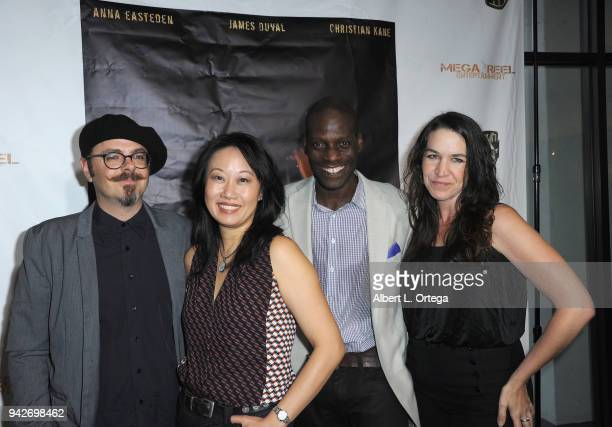 Scott Baker Ann Hu Herman Wilkens and Morgan Lariah arrive for the Los Angeles Premiere of 'Miles To Go' held at Writers Guild Theater on April 5...
