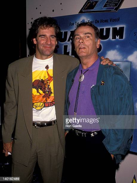 Scott Bakula and Dean Stockwell at the Party to Promote Five Episodes of 'Quantum Leap' Released on Video Cassette City Walk Wizard Club Universal...