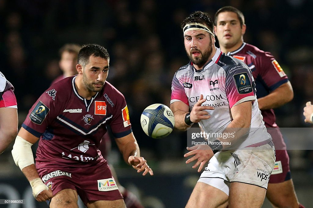 Scott Baldwin for Ospreys in action during the European Rugby Champions Cup match between Union Bordeaux Begles and Ospreys at Stade Chaban-Delmas on December 19, 2015 in Bordeaux, France. (Photo by Romain Perrocheau/Getty I