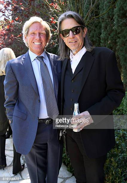 Scott Barbour and Vice President of the GRAMMY Foundation Scott Goldman at the 2016 Jane Ortner Education Award Luncheon on April 4 2016 in Beverly...