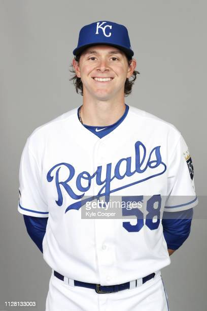Scott Barlow of the Kansas City Royals poses during Photo Day on Thursday February 21 2019 at Surprise Stadium in Surprise Arizona