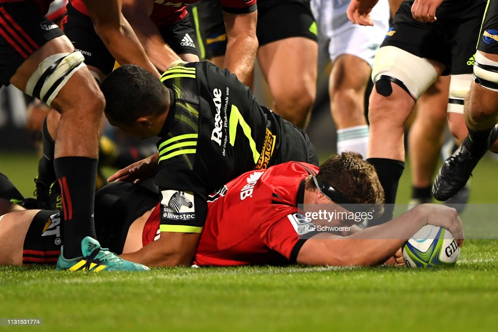 Super Rugby Rd 2 - Crusaders v Hurricanes : News Photo