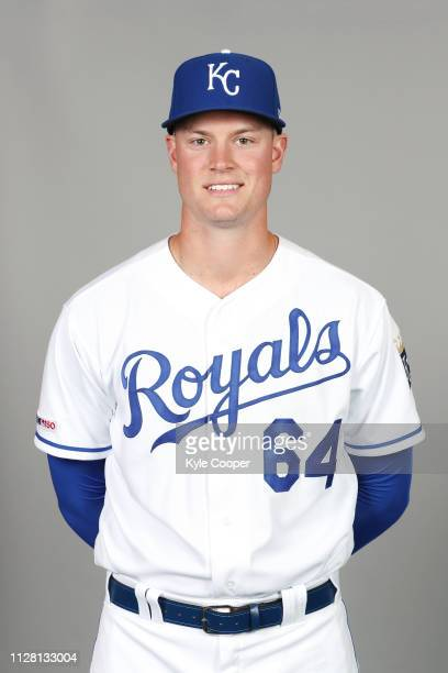Scott Blewett of the Kansas City Royals poses during Photo Day on Thursday February 21 2019 at Surprise Stadium in Surprise Arizona