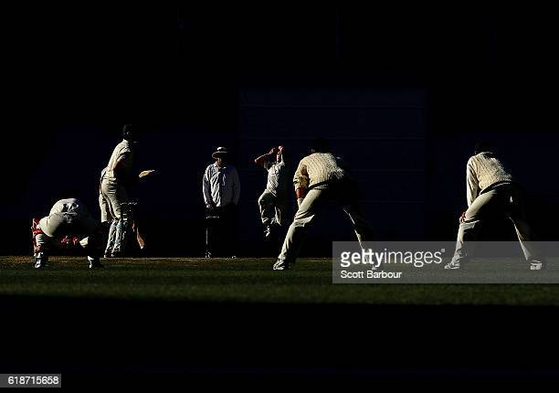 Scott Boland of Victoria bowls during day four of the Sheffield Shield match between Victoria and Tasmania at the Melbourne Cricket Ground on October...