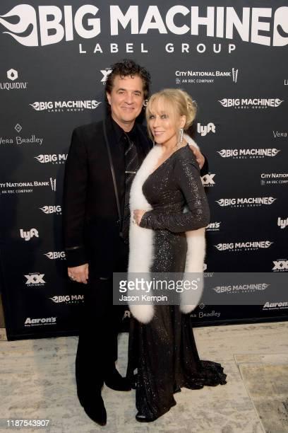 Scott Borchetta and Sandi Spika Borchetta attend Big Machine Label Group celebration of The 53rd Annual CMA Awards in Nashville at The Bell Tower on...