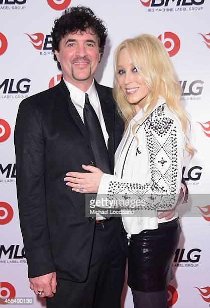 Scott Borchetta and Sandi Spika Borchetta attend the Big Machine Label Group Celebrates The 48th Annual CMA Awards in Nashville on November 5 2014 in...