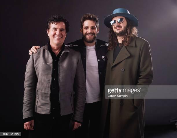 Scott Borchetta CEO of Big Machine Thomas Rhett and Julian Bunetta attend Big Machine Label Group Celebrates the 52nd Annual CMA Awards in Nashville...