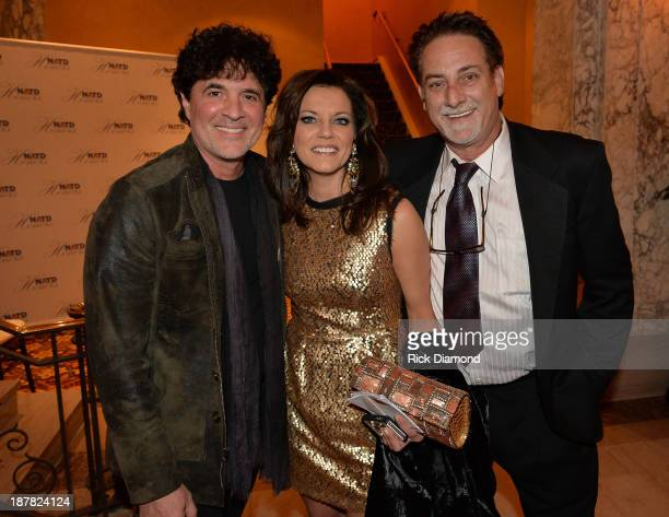 Scott Borchetta Honoree Martina McBride and John McBride attend the 3rd annual NATD Honors 2013 at the Hermitage Hotel on November 12 2013 in...