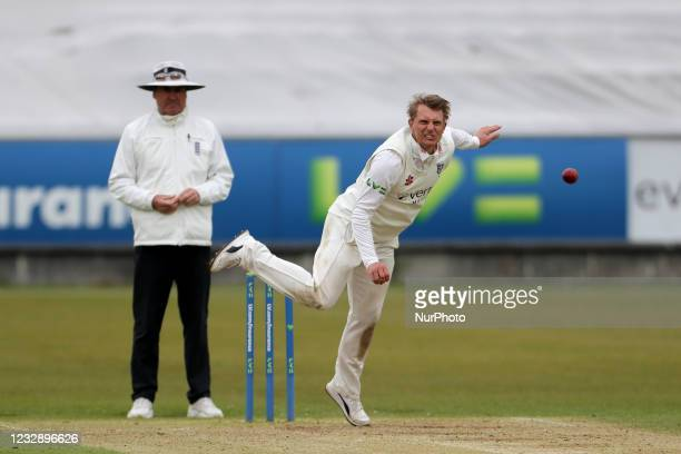 Scott Borthwick of Durham bowling during the LV= County Championship match between Durham County Cricket Club and Worcestershire at Emirates...