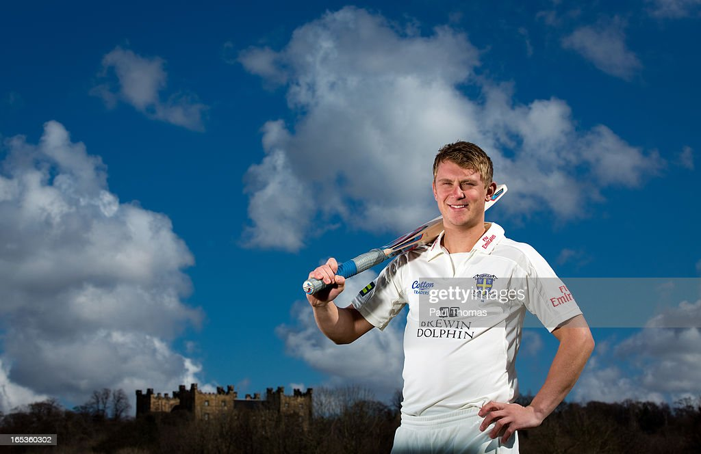 Scott Borthwick of Durham CCC poses for a photograph during a pre-season photocall at The Riverside on April 3, 2013 in Chester-le-Street, England.