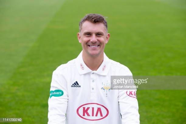 Scott Borthwick of Surrey poses for a photo during a training session at The Kia Oval on April 08, 2019 in London, England.