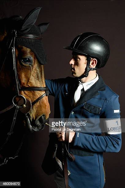 Scott Brash from Great Britain poses with Hello Annie as part of the Gucci Paris Masters 2014 on December 6 2014 in Villepinte France