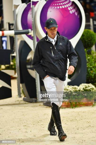 Scott Brash of England during walking course of Longines FEI Word Cup presented by BMW in JumpingVerona on October 29 2017 in Verona Italy