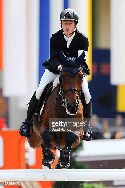 Scott Brash of Great Britain on Hello Annie in action to finish fourth during the Prix GL Events during the second day of the Grand Prix Hermes of...