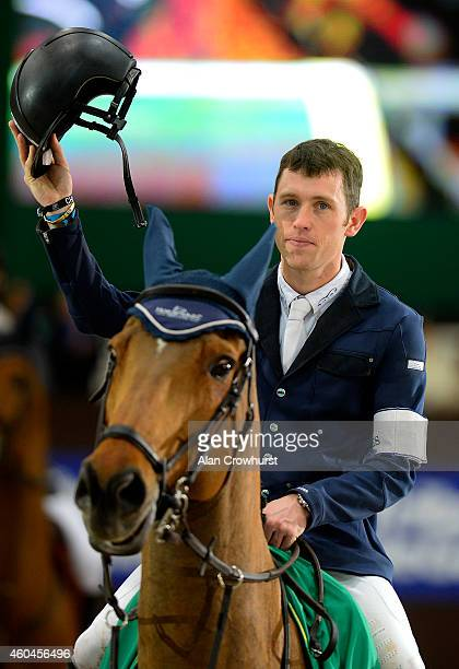 Scott Brash of Great Britain on Hello Sanctos win The Rolex Grand Slam of Show Jumping at Palexpo on December 14 2014 in Geneva Switzerland