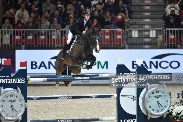 Scott Brash of Great Britain rides Hello Shelby during FEI CSI5-W Presented by Selleria Equipe on November 9, 2019 in Verona, Italy.