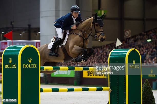 Scott Brash of Great Britain rides Ursula XII during the Rolex Grand Slam of Show Jumping at Palexpo on December 11 2016 in Geneva Switzerland