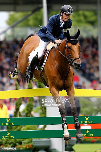 Scott Brash of GreatBritain rides on Hello Sanctos and won the Rolex Grand Prix jumping competition of the 2015 CHIO Aachen tournament at Aachener...