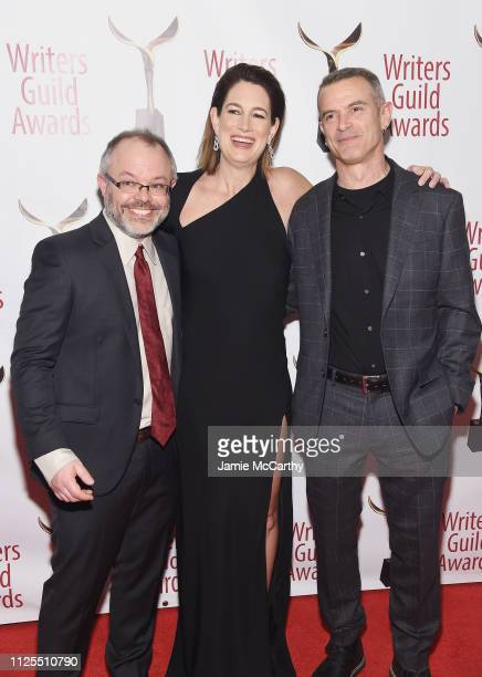 Scott Brown Gillian Flynn and Alex Metcalf attend the 71st Annual Writers Guild Awards New York ceremony at Edison Ballroom on February 17 2019 in...