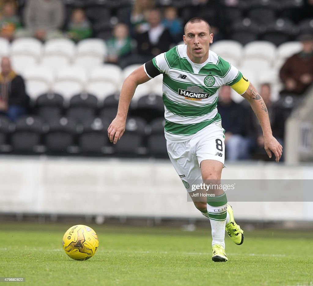 Scott Brown of Celtic at the Pre Season Friendly between Celtic and FK Dukla Praha at St Mirren Park on July 04, 2015 in Paisley, Scotland.