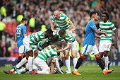 glasgow scotland scott brown celtic celebrates