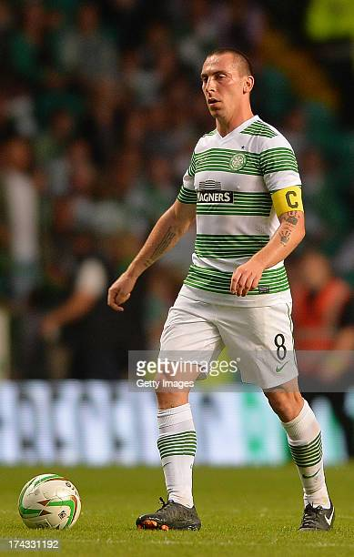Scott Brown of Celtic during the UEFA Champions League Second Qualifying Round Second Leg match between Celtic and Cliftonville at Celtic Park...
