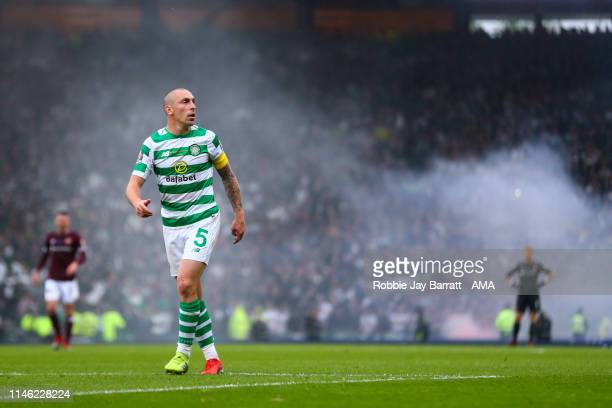 Scott Brown of Celtic during the William Hill Scottish Cup final between Heart of Midlothian and Celtic at Hampden Park on May 25 2019 in Glasgow...