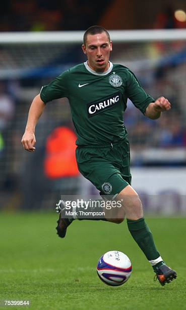 Scott Brown of Celtic in action during the PreSeason Friendly match between Peterborough United and Celtic at London Road on July 13 in Peterborough...