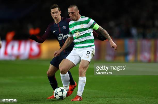 Scott Brown of Celtic in action during the UEFA Champions League group B match between Paris SaintGermain and Celtic FC at Parc des Princes on...