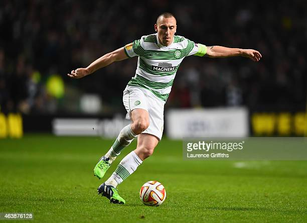 Scott Brown of Celtic in action during the UEFA Europa League Round of 32 first leg match between Celtic FC and FC Internazionale Milano at Celtic...
