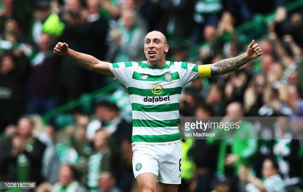 Scott Brown of Celtic is seen at full time during the Scottish Premier League between Celtic and Rangers at Celtic Park Stadium on September 2 2018...