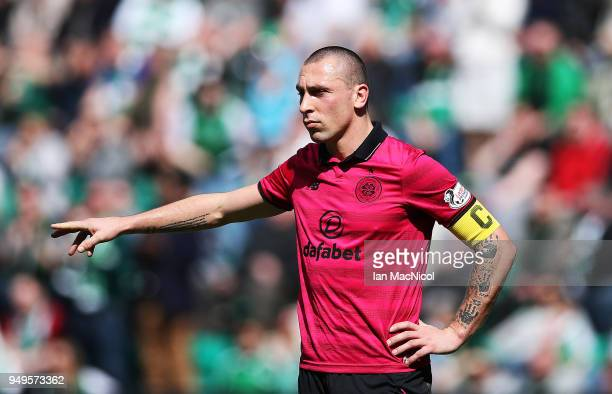 Scott Brown of Celtic is seen during the Ladbrokes Scottish Premiership match between Hibernian and Celtic at Easter Road on April 21 2018 in...