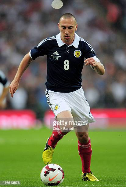 Scott Brown of Scotland in action during the International Friendly match between England and Scotland at Wembley Stadium on August 14 2013 in London...