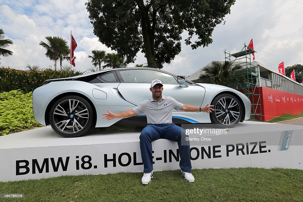 Scott Brown of USA wins a hole in one prize at the 15th hole during round one of the CIMB Classic at Kuala Lumpur Golf & Country Club on October 29, 2015 in Kuala Lumpur, Malaysia.