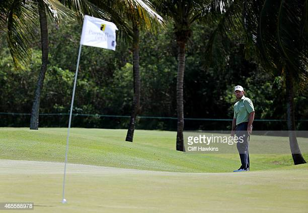 Scott Brown putts for eagle on the second green during the final round of the Puerto Rico Open presented by Banco Popular on March 8 2015 in Rio...