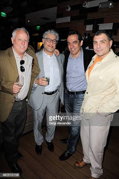 Scott Brown Rolando Garcci Jorge Reynoso and Antonio Misuraca attend Noelia Album Release Party at E11even Nightclub Miami on January 29 2015 in...