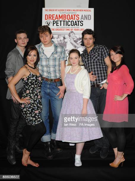 Scott Bruton AJ Dean and Ben Freeman Jennifer Biddall Daisy WoodDavis and Emma Hatton all pose for pictures at a photocall to launch new musical...