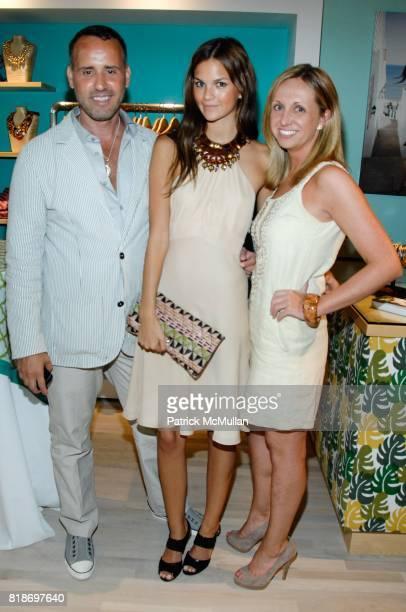 Scott Buccheit Allie Rizzo and Samantha Ouellette attend Tinsley Mortimer Hosts the Roberta Freymann East Hampton Boutique Grand Opening at Roberta...