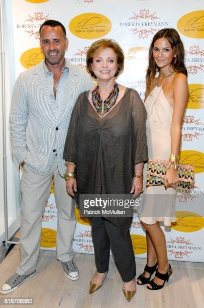 Scott Buccheit Roberta Freymann and Allie Rizzo attend Tinsley Mortimer Hosts the Roberta Freymann East Hampton Boutique Grand Opening at Roberta...