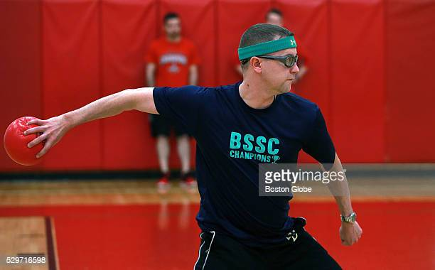 Scott Buckley plays dodgeball match held at Watertown Middle School in Watertown Mass on May 3 2016
