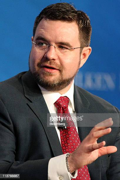Scott Burns managing director of ETF research for Morningstar Inc speaks at the annual Milken Institute Global Conference in Beverly Hills California...
