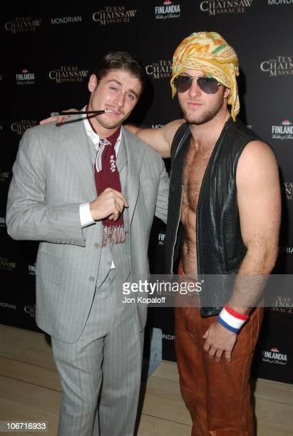 Scott Caan Jon Abrahams during The Texas Chainsaw Massacre Halloween Party At The Mondrian Hotel at Sky Bar At The Mondrian Hotel in West Hollywood...