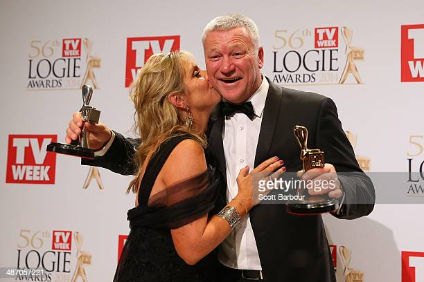 Scott Cam pose with his wife Ann in the awards room after winning the Gold Logie for Most Popular Personality on Television at the 2014 Logie Awards...