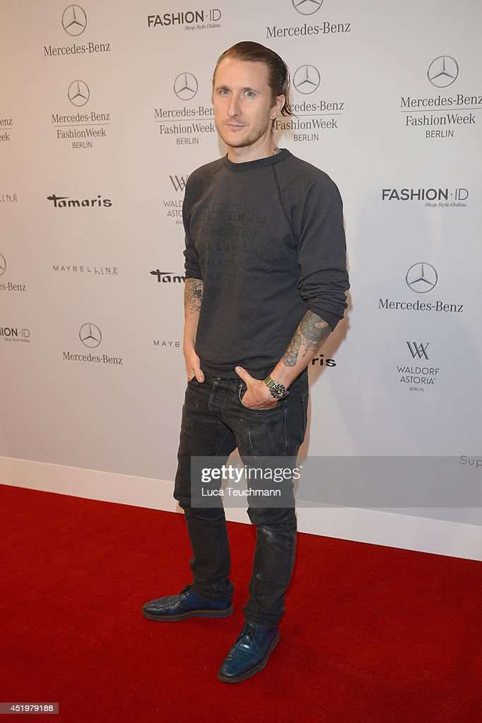Scott Cambell attends the Laurel show during the Mercedes-Benz Fashion Week Spring/Summer 2015 at Erika Hess Eisstadion on July 10, 2014 in Berlin, Germany.