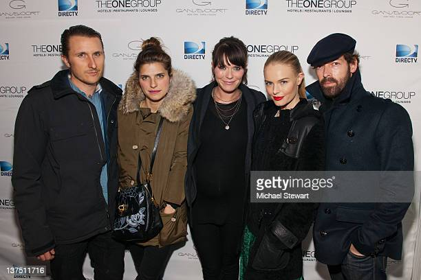 Scott Campbell, actress Lake Bell, director Katie Aselton, actress Kate Bosworth and Michael Polish attend DIRECTV Official Premiere Dinner for...