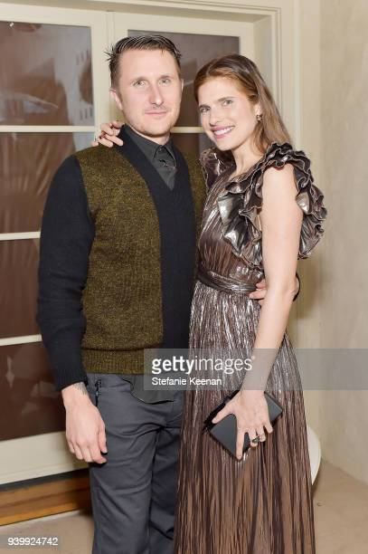 Scott Campbell and Lake Bell attend a private dinner to celebrate the One Year Anniversary of Beboe hosted by Lake Bell Lisa Eisner Assia Grazioli...